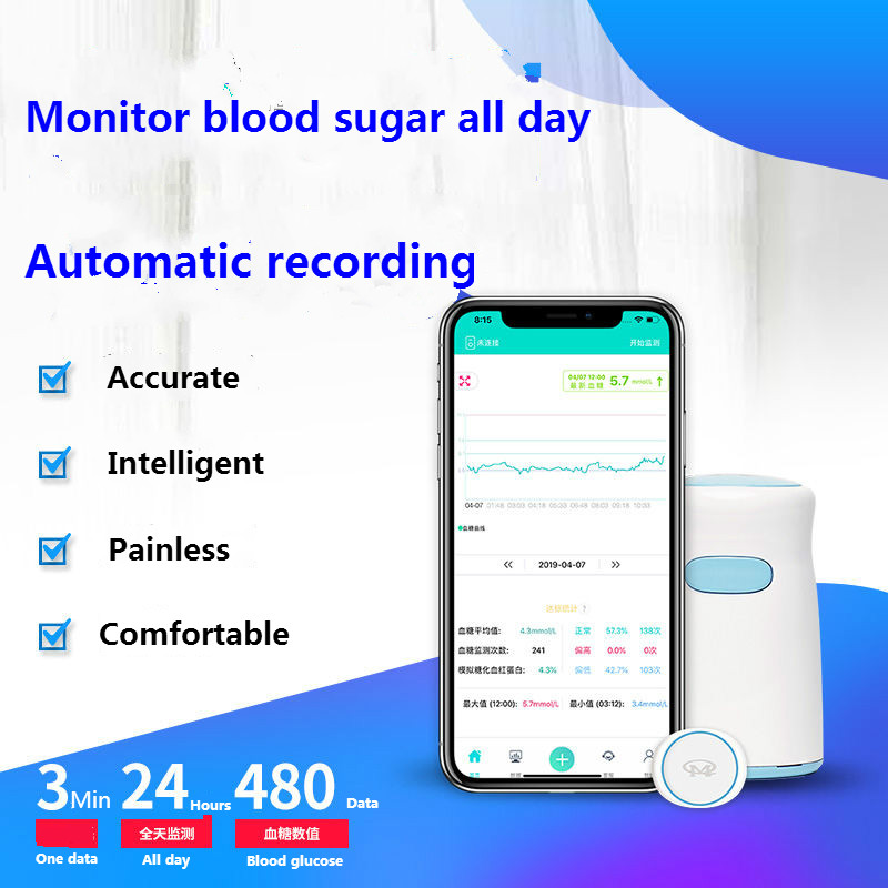 New Arrived Dynamic Blood Glucose Meter Home Transmitter Sensor Probe Abbott Instant Scanner Diabetic Test  Diabetes Glucometer