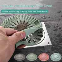 Silicone Sink Strainer Collect Drain Sewer Hair Filter Bath Stopper Floor Kitchen Accesories Gadgets Colanders Strainers
