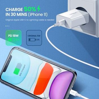 UGREEN PD зарядное устройство 18 Вт QC4.0 QC3.0 Usb Type C быстрое зарядное устройство Быстрая зарядка 4,0 3,0 QC для IPhone 11 X Xs 8 Xiaomi Phone PD зарядное устройство