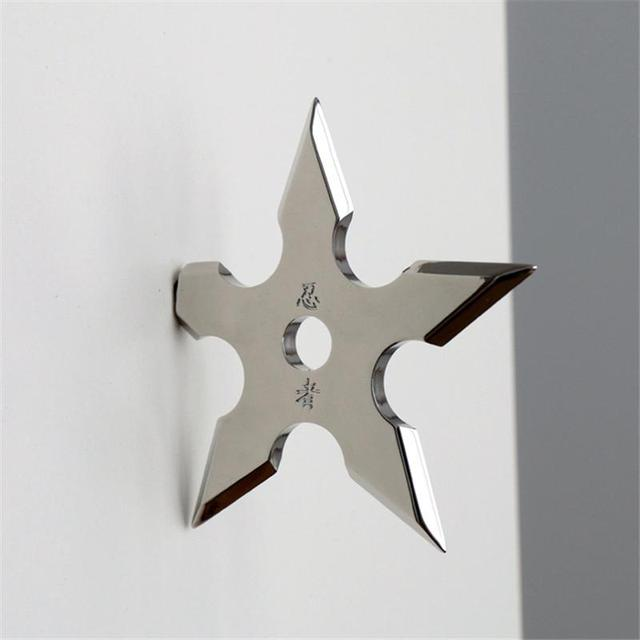 Wall Coat Hooks Metal Hanger Novelty Home Decor Star Dart Shape Ninja Cool Stainless Steel Clothes Supplies Mounted Wall Hook