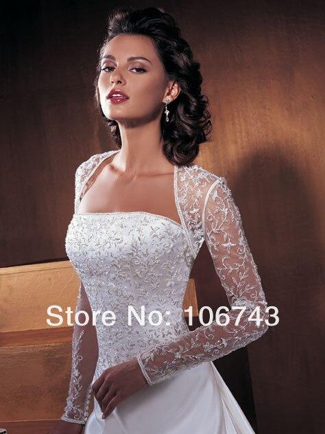 Robes de mariée avec dentelle veste 2019 Discount pas cher vestido de noiva robe de mariee perles robe de mariée mariée robe de mariée