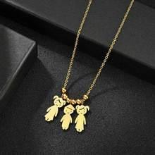 Ожерелье с именем на заказ ожерелье из нержавеющей стали для