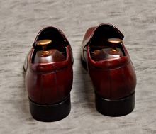 2019 Black Wine Red Loafers Shoes For Men Handmade Genuine Leather Casual Formal Shoes Wedding Office Slip-on Flat Oxford Shoes