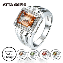 Anel masculino diaspore anéis de prata esterlina para homem casamento banda 3 quilates criado sultanite magia especial pedra mudanças de cor