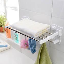 Hayan/HAYAN пробивка отверстий Ванная комната полки для хранения для ванной комнаты Полотенца полка Двухуровневая Нержавеющаясталь стойка