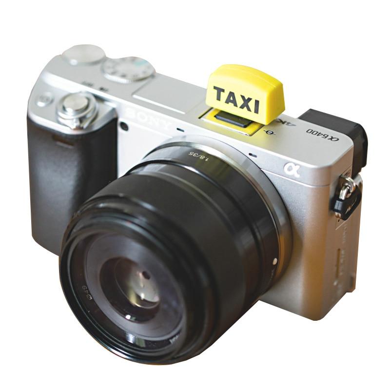 Защитная крышка типа «Горячий башмак» в форме такси Для беззеркальных камер Canon Nikon Fuji Pentax для Olympus dslr sony A7 A6000