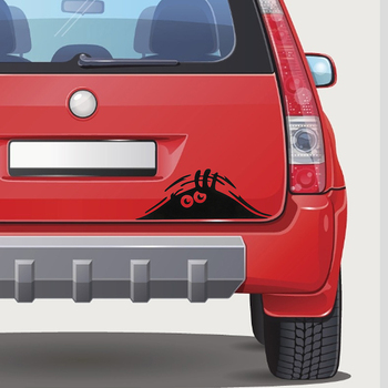 Car sticker funny 3D big eyes peek at monster sticker for Land Rover Range Rover/Evoque/Freelander/Discovery image