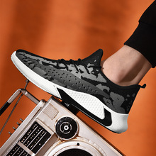 Flying woven men's sneakers 2020 spring new men's shoes breathable mesh soft bot