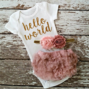 1 Year Old Birthday Dress Baby Girl Clothes Infant Girl Christening Clothing 3pcs Outfits for Toddler Girls Party Princess Dress
