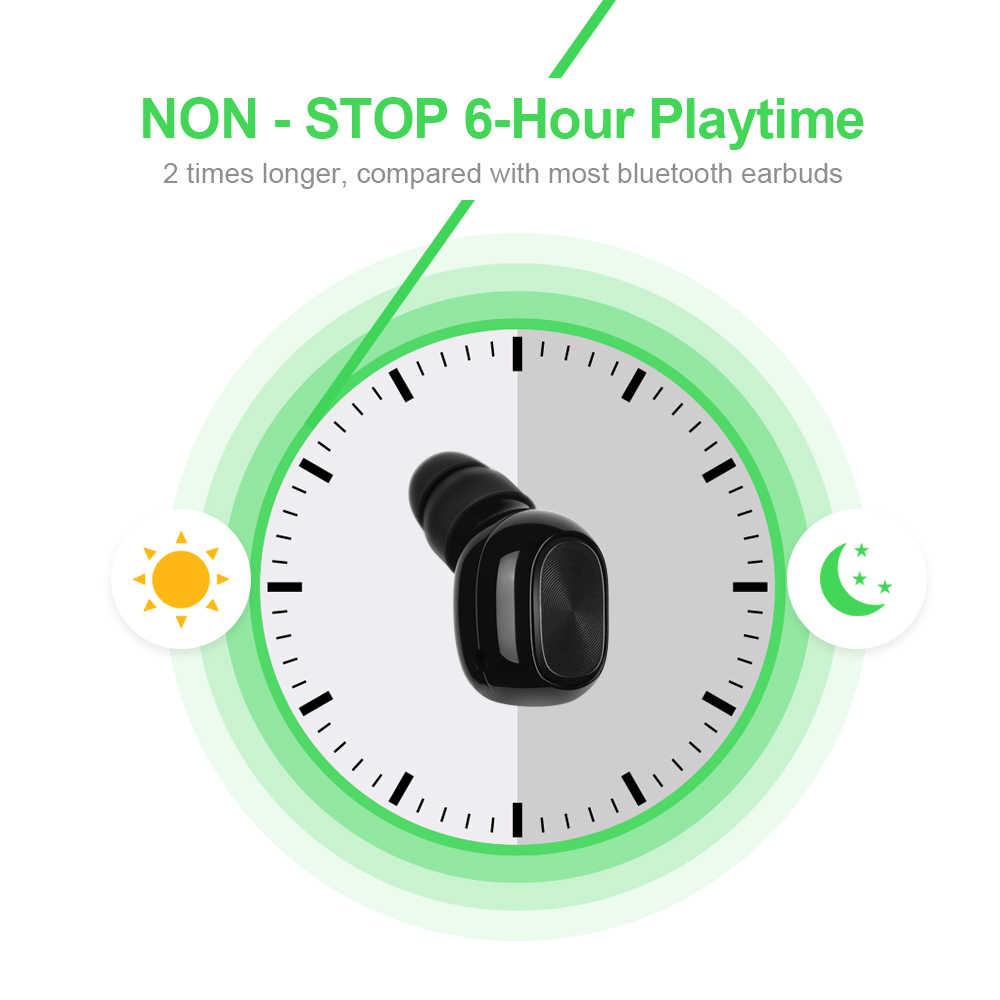 ワイヤレス Bluetooth イヤホン黒イヤシングル耳ヘッドセットロング時間の音楽再生イヤホンジムスポーツ Sweatproof。
