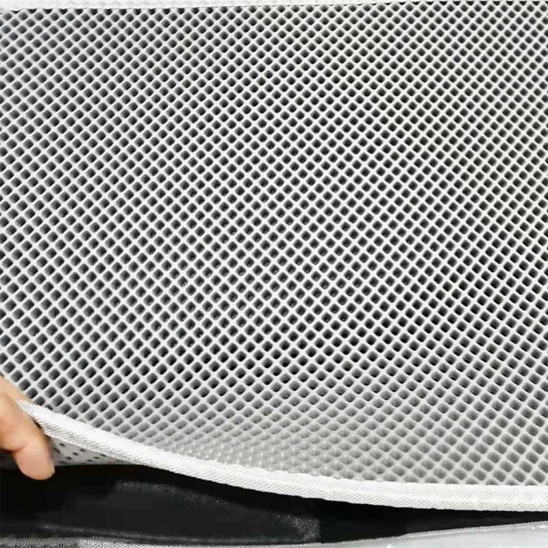 고양이 쓰레기 매트-더블 레이어 패드-박스 팬을위한 대형 유연한 트래핑-검정과 회색