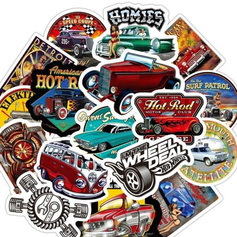 10/30/50 PCS модифицированный классических автомобилей Водонепроницаемый тележка чехол в стиле «граффити» Стикеры