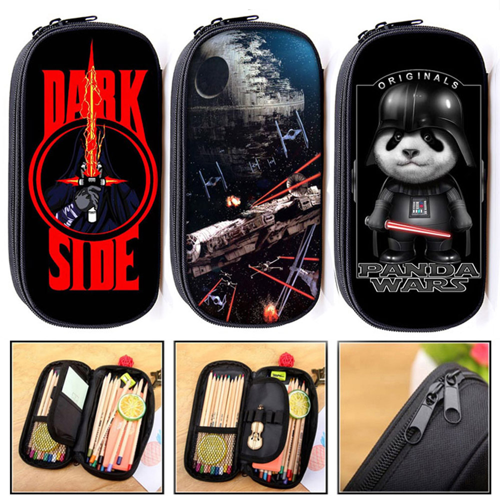 Death Star / Jedi Order / Sith Academy / Panda War Cosmetic Cases Pencil Bag Boys Girls Stationary Bags School Supplies Cases