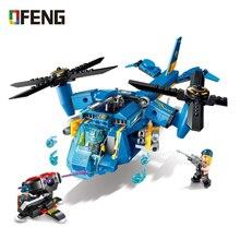 Enlighten assembling building blocks High-Tech era scull helicopter gunship Educational Technic Bricks Toy For Boy Gift