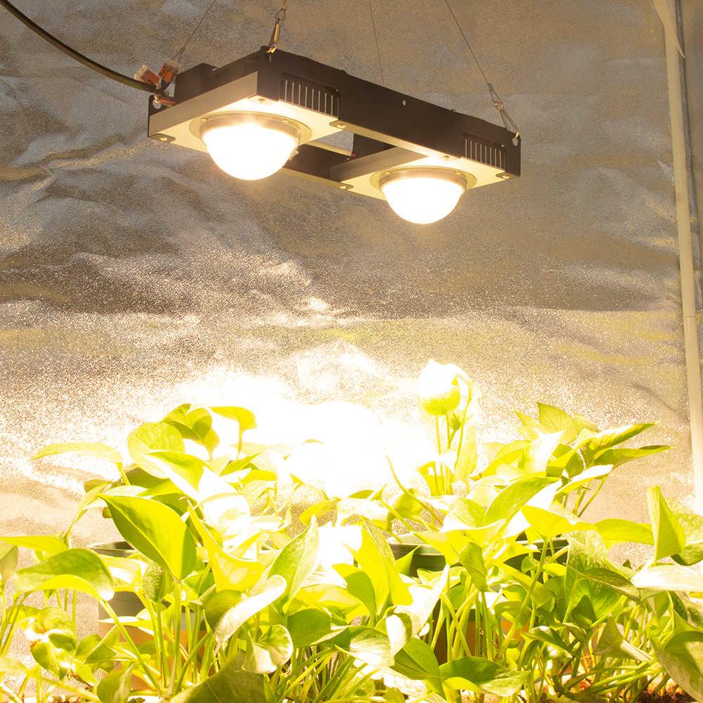 Luz LED de crecimiento espectro completo 200W 300W COB LED lámpara de cultivo de plantas de interior flores invernaderos tienda de cultivo hidropónico