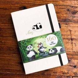 Панда логотип пуля журнал точка блокнот в сетку 160GSM бумага 5*5 мм точек, альбом для идей