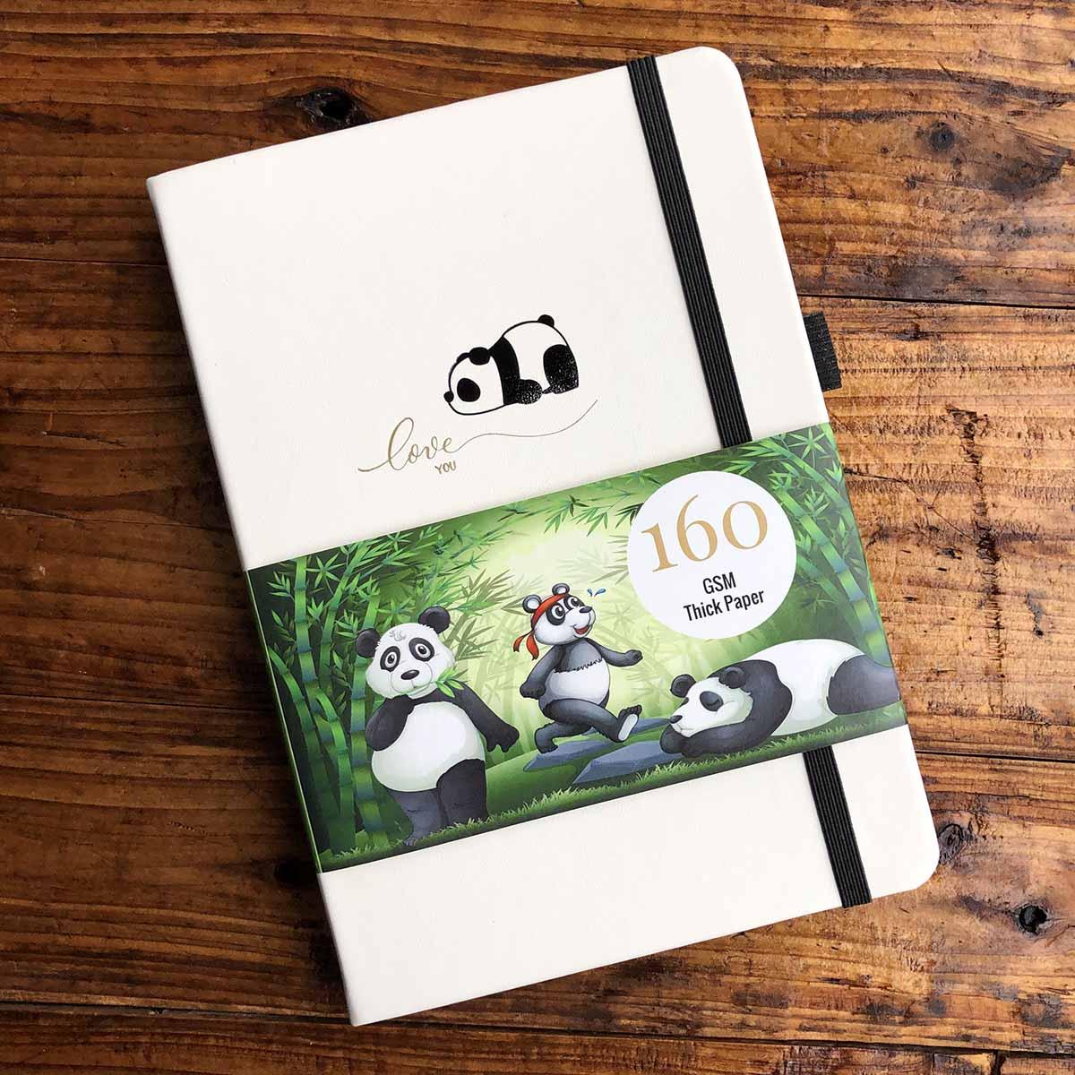 Panda LOGO Bullet Journal Dot Grid Notebook 160GSM Paper 5*5 Mm DOTS, Sketchbook For Ideas