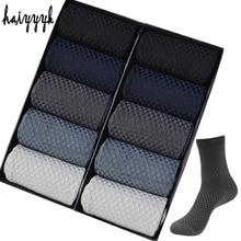 10 Pairs High Quality Bamboo Fiber Mens Socks Business Breathable Deodorant Compression Socks Men Long Big Size EUR 38 46