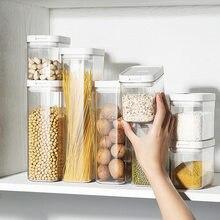 500/800/1300/1800ML Food Storage Container Plastic kitchen storage box Refrigerator Noodle Multigrain Storage Plastic Container