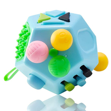 12 Side Decompression Cube Children Adult Fun Cube Toys Relieve Stresses Press Anti Stress Anxiety Depression Relief Magic Cubes