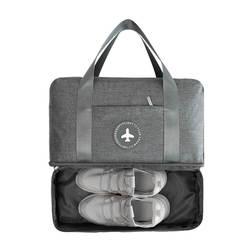BUCHNIK Водонепроницаемый Портативный дорожная сумка с двойной подкладкой Классификация одежда обувь Организатор Чемодан чехол для белья