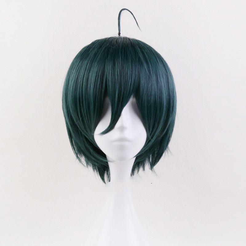 Shuichi Saihara Cosplay Wig Danganronpa V3: Killing Harmony Costume Play Wigs Heat Resistant Synthetic Hair Wigs + Wig Cap