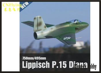 EPO RC plane airplane RC MODEL HOBBY TOY FREEWING 64MM EDF jet Lippisch P.15 Diana JET PLANE PNP SET P15 64EDF PLANE фото