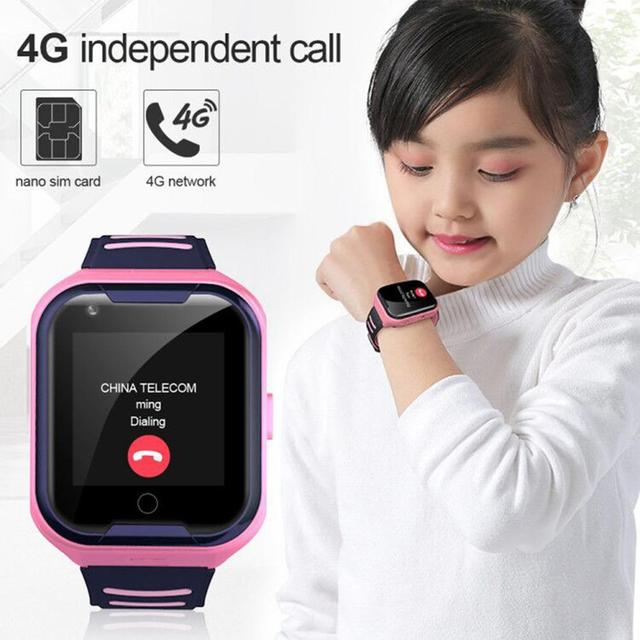 LEMFO GPS Children Smart Watch 4G Support SIM Card Call SOS Full Touch Phone Watch with Camera Waterproof  Kids Watches