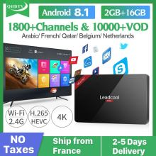 QHDTV Code Smart Leadcool Pro Android 8.1 RK3229 2+16G H.265 Decoder Algeria Tunisia Arabic France Belgium IPTV Set Top Box