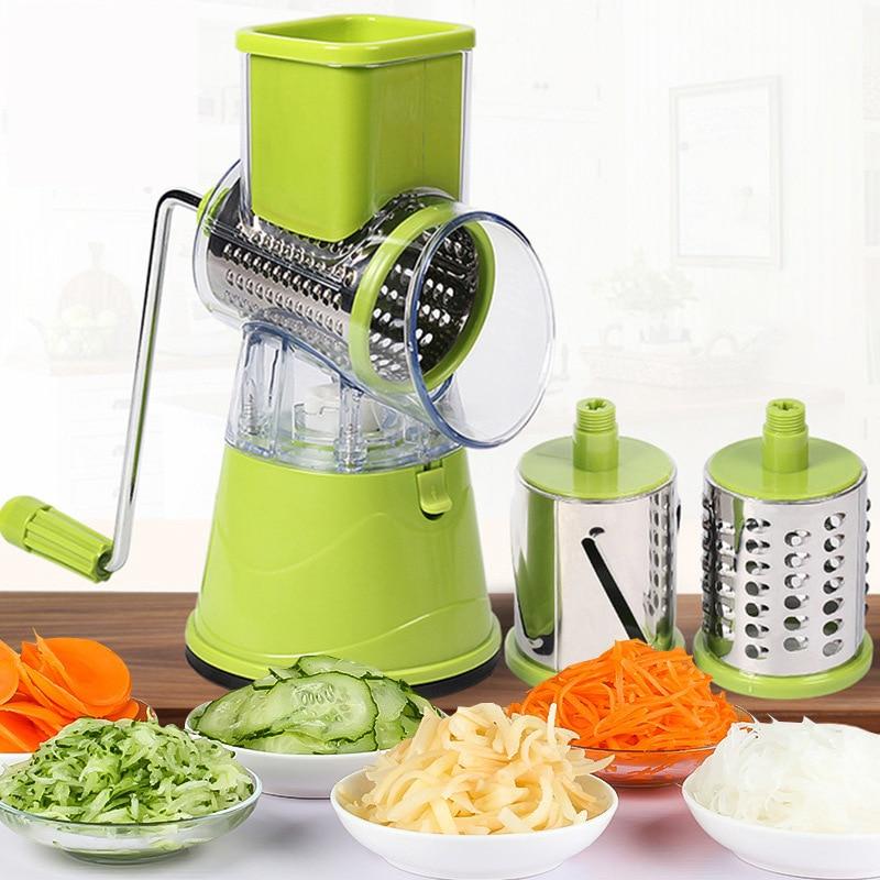 Многофункциональная Поворотная терка для измельчения овощей и картофеля, терка для овощей, Ручной Кухонный Нож для капусты, кухонный инстр...