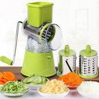 Multi função rotativa ralador vegetal shredded máquina de batata vegetal ralador manual repolho faca de cozinha ferramenta de cozinha|Cortador manual| |  -