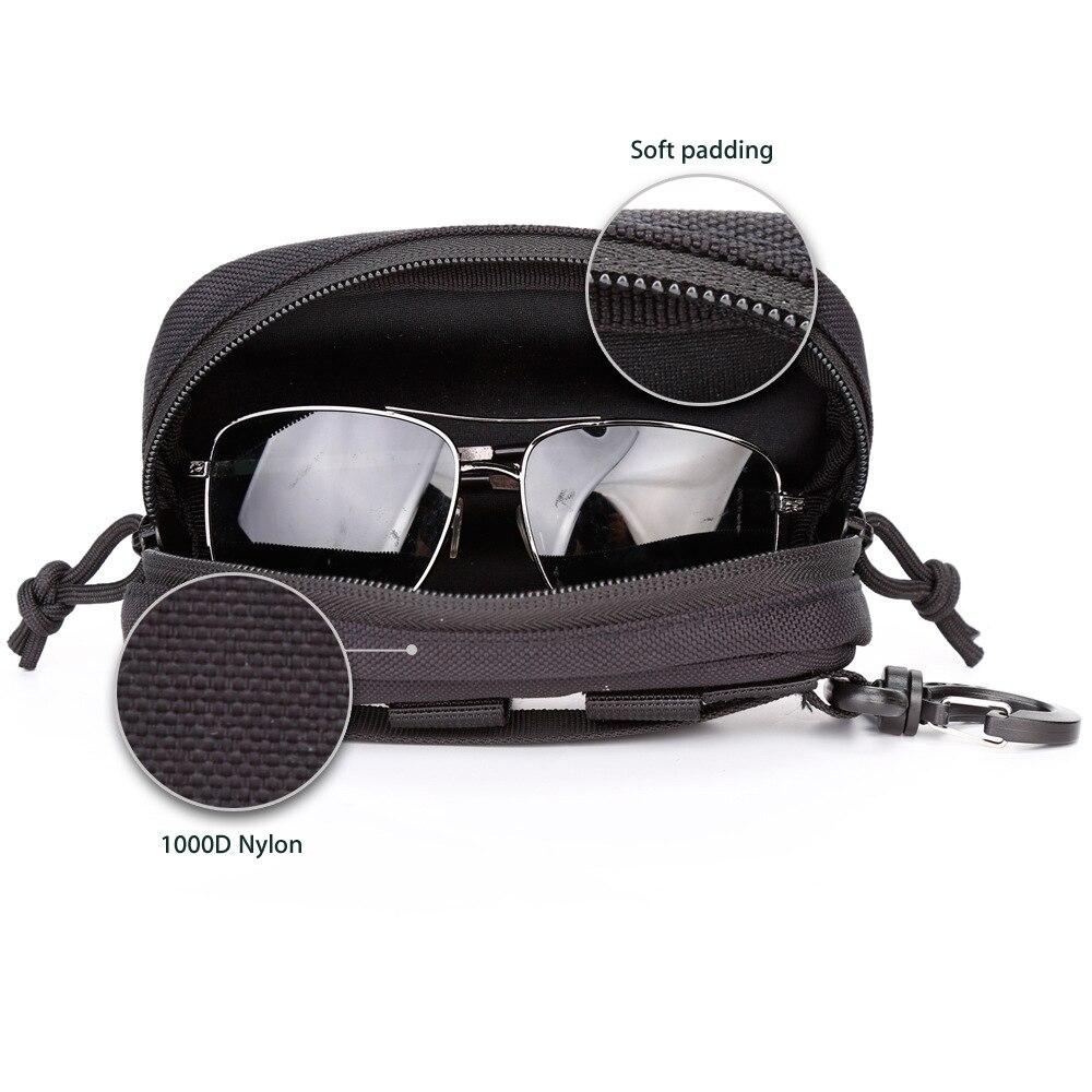 Новое поступление, тактический Чехол для очков 1000D, нейлоновый Жесткий Чехол, Тактические Солнцезащитные очки Molle, чехол для переноски