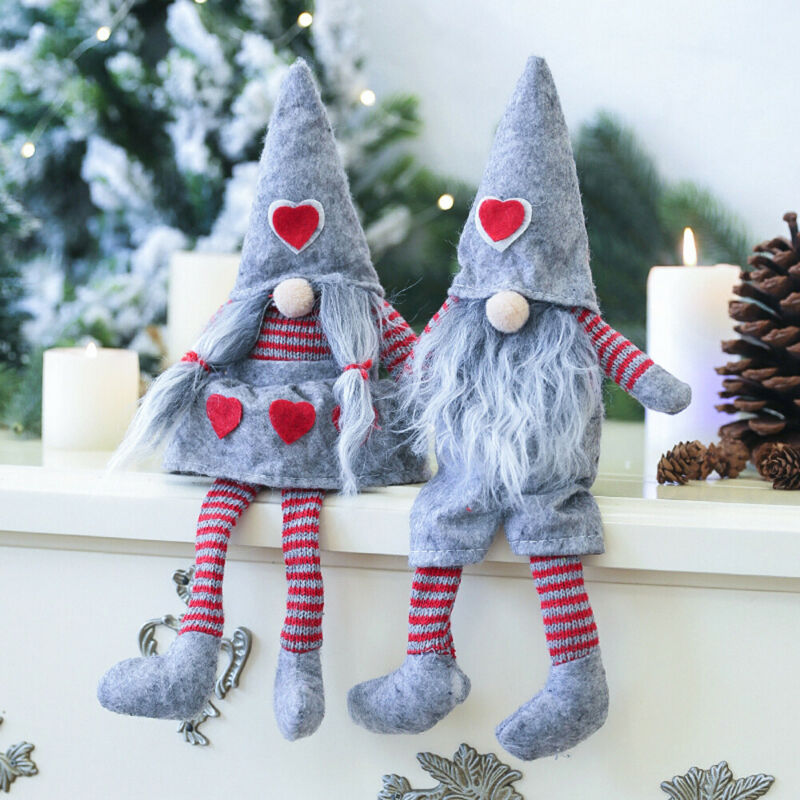 2019 Newest Hot Merry Christmas Long Hat Swedish Santa Gnome Plush Doll Ornament Xmas Tree Decor