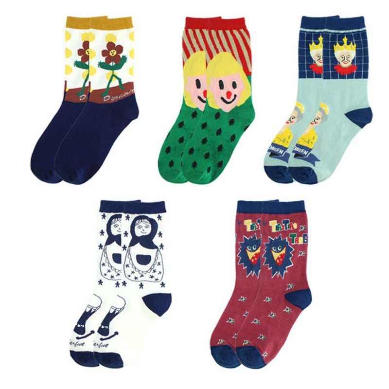 2019 גרבי יוניסקס אופנה חמוד קריקטורה בובת סדרת נשים גרבי קפיצות סוכר Creative גבירותיי גברים של זוג כותנה גרביים