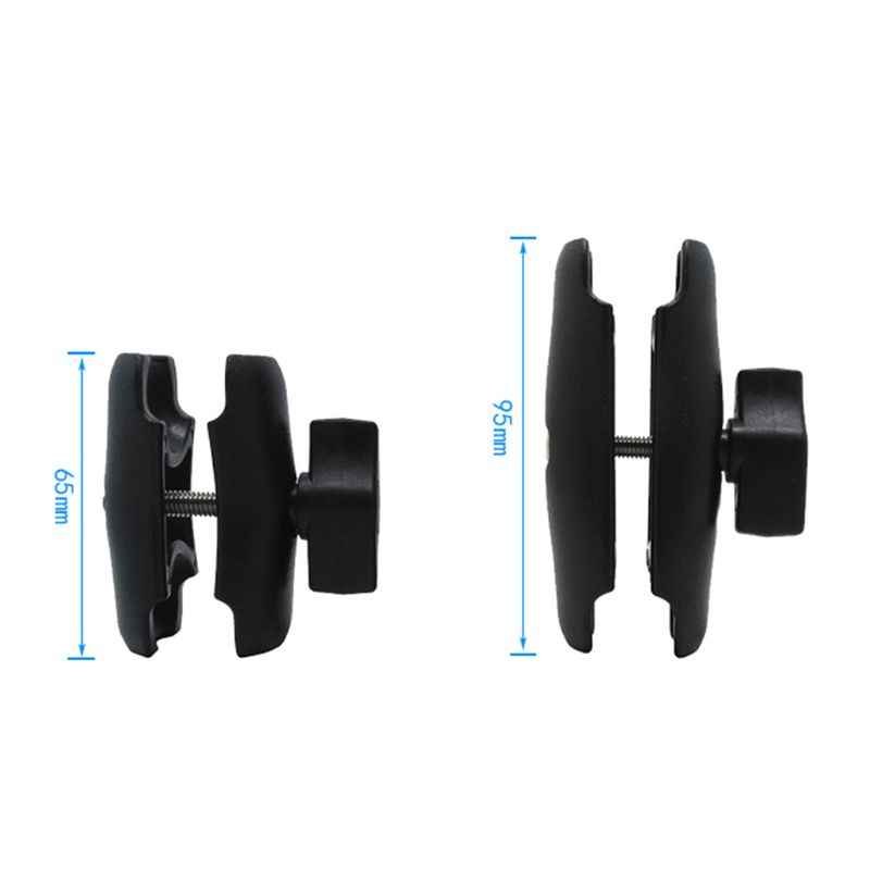65mm or 95mm Short Long Double Socket Arm for 1 Inch Ball Bases for Gopro Camera Bicycle Motorcycle Phone Holder for Ram Mount