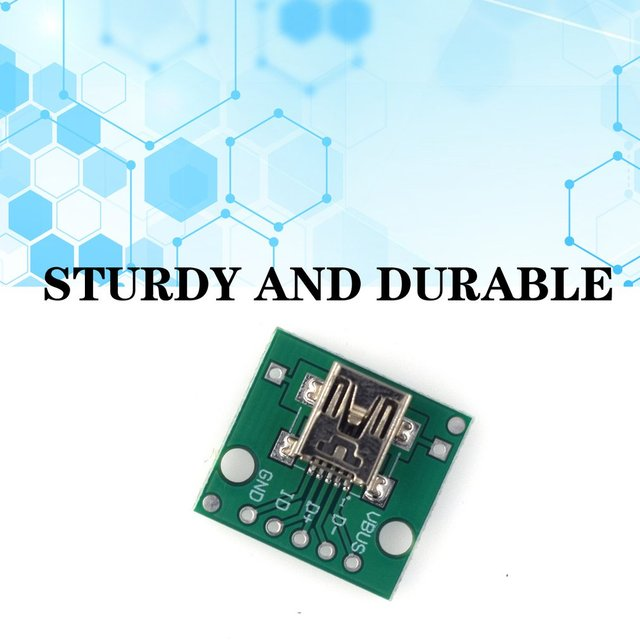 Hw-768 Adapter Board Usb To Dip Female Socket Mini-5p Patch To 2.54mm Straight Soldered Adapter Board 4