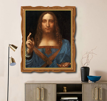 The Savior Jesus Famous Oil Painting By Vinci Canvas Calligraphy Home Decor Wall Picture Art for Living Room Church