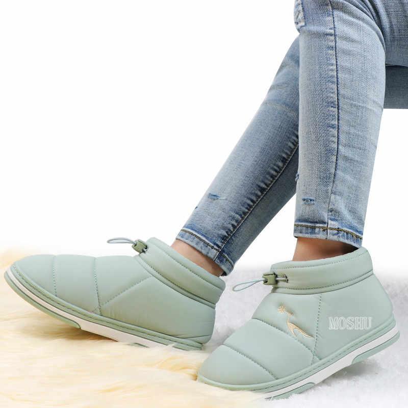 Yarım çizmeler kadınlar için su geçirmez kar botları kış ayakkabı platform ayakkabılar bayanlar sıcak kürk astarı ayakkabı botines mujer 2020
