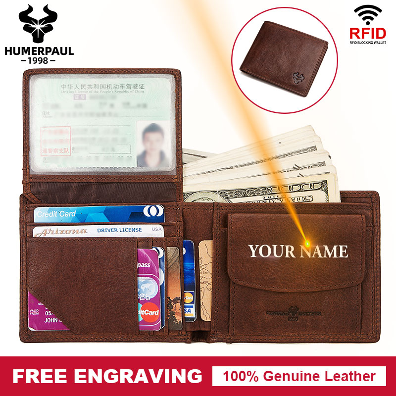 Cow Leather Men Wallets Bifold Short Wallets Hasp Vintage Male Purse Coin Pouch High Quality Man Pocket With Card Holder