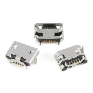 60 шт./лот 5-контактный разъем SMT разъем Micro Тип usb B женского размещения 12 моделей SMD Штекерный разъем DIP