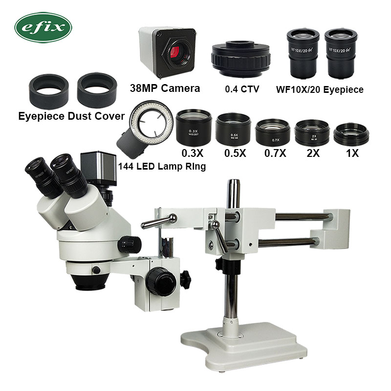 38MP 2.1 90X Double Boom Arm HDMI USB Trinocular Stereo Soldering Microscope Camera Lens Zoom Phone Repair Tools-in Microscopes from Tools    1