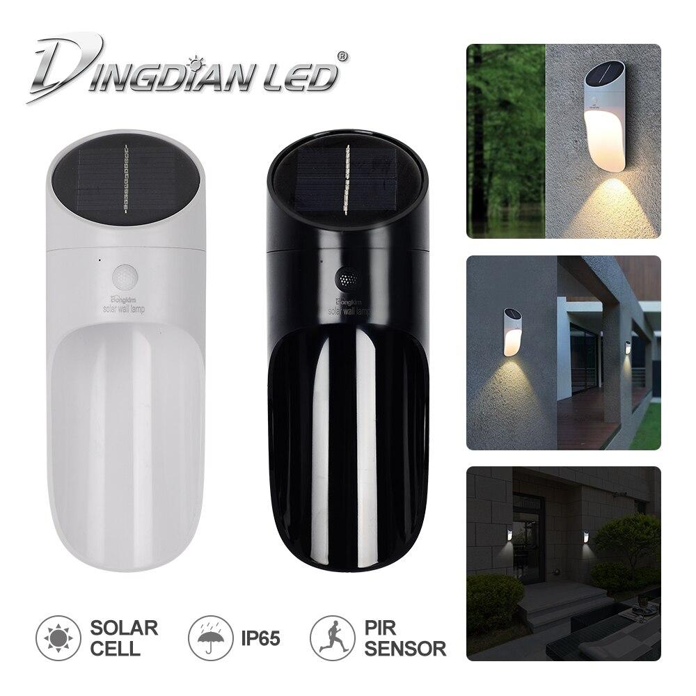 Led Wall Light Motion Sensor DC5V 0.65W 18650 Battery  Outdoor Led Wall Lamp Modern Solar Lights For Outdoor Garden Street Lamp