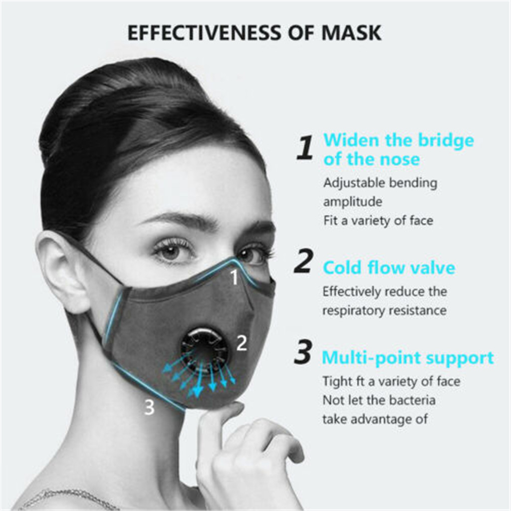 Tapa bocas Reusable PM2.5 Mouth Mask Dust Respirator Anti Haze Face Masks 100%Cotton Unisex Mascherine ffp3 riutilizzabili 1