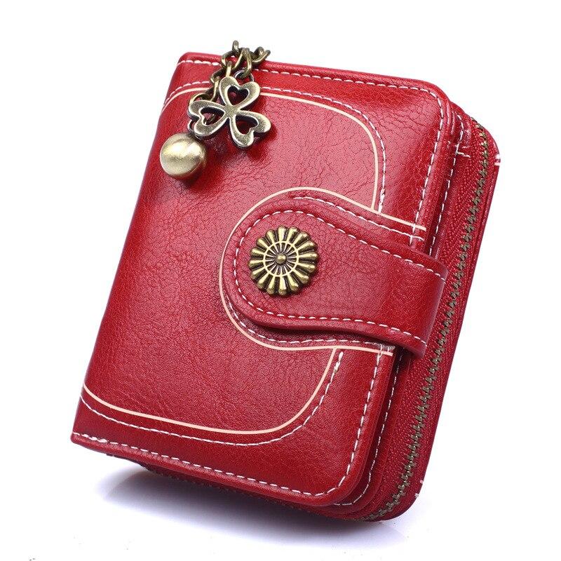 marca pequena senhora zíper bolsa mulher carteiras