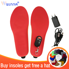 Buy BEST GIFT NEW ARRIVAL USB Electric Powered Heated Insoles For Shoes Boots Keeping Feet Warm Free Shipping EUR SIZE 35-40 Red directly from merchant!