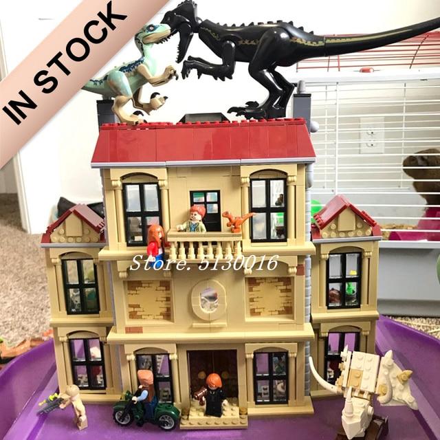 In Stock Indoraptor Rampage at Lockwood Estate 10928 Jurassic World Park Series 1019PCS Building Blocks Model Toys 75930   Model Building