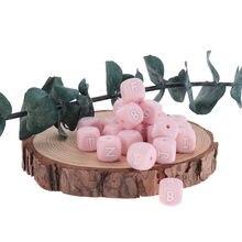 200 шт силиконовые бусины с буквами Детские Прорезыватели бусы