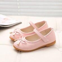 Детская обувь принцессы, новинка, весна-осень, летняя обувь на плоской подошве для маленьких девочек, детская обувь черного, белого, красног...