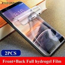 25D Front+Back full hydrogel film for xiaomi Max2 Max3 screen protector xiaomi6 6X 5splus 8 8se 9 9se CC9 CC9e