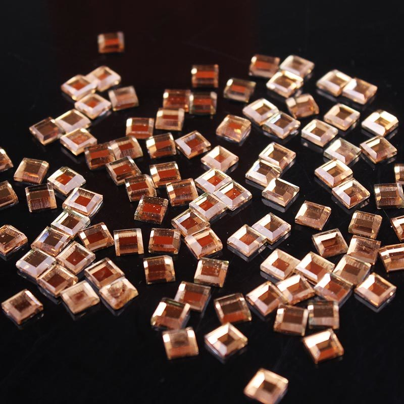 Nail Crystals Glue on Handiwork Decor Rhinestones Applique Thermomix Rhinestones Crafts Square Strass Rhinestone for Clothes Z